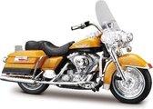 Harley Davidson FLHR Road King 1999 (Goud) 1/18 Maisto - Modelmotor - Schaalmodel - Model motor