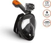 VIZU ExtremeX Snorkelmasker incl. action camera bevestiging- Maat M/L