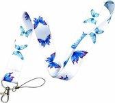 Moodadventures   Keycords   Keycord Butterflies L   Stevig Nylon  Vlinderprint