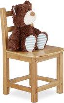 relaxdays kinderstoel bamboe - stoel kinderkamer - stoel voor kinderen - plantenkrukje