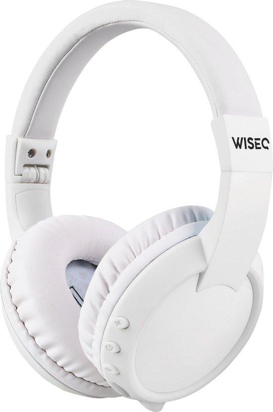 WISEQ koptelefoon kind - Onbreekbaar, volumebegrensd en draadloos met Bluetooth 5.0 - Wit