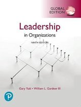 Leadership in Organizations, Global Edition