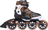 Inline Skates Dames - Fitness - Unisex - Zwart Oranje - Skeelers Dames - Skeelers Volwassenen - Maat 41 -Skeelers Heren