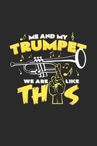 me and my trumpet: 6x9 Trumpet - dotgrid - dot grid paper - notebook - notes