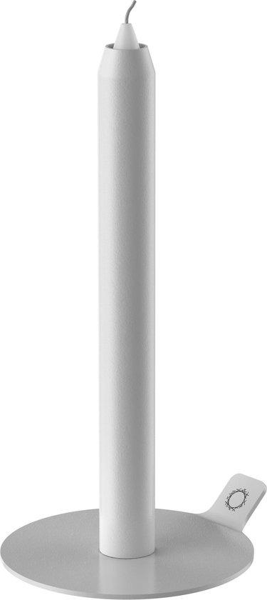 Lunedot unieke kaarsenstandaard inclusief 3 kaarsen – kaarsenhouder – kaarsen kandelaar - wit