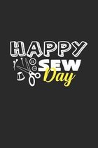 Happy sew day: 6x9 Sewing Machine - dotgrid - dot grid paper - notebook - notes