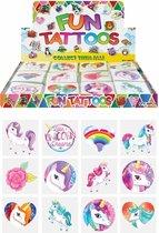 Tattoos kinderen - Unicorn - Tijdelijke tattoo UNICORN EENHOORN voor meisjes - 60 stuks / FUNARTIKEL / UITDEEL CADEAUTJES / KINDERVERJAARDAG