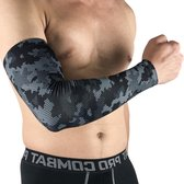 Compressie Arm Sleeve - Compressieband – Armwarmers - Running Sleeves – Compressiekous – Elleboog - Basketbal – Handbal – Volleybal – Heren - Maat L