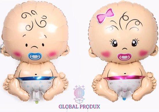 Baby Ballonnen Jongen en Meisje XL|Babyshower Versiering|Gender Reveal Decoratie|Folie ballonnen|Kraamversiering