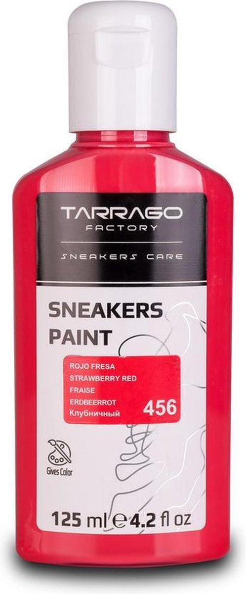 Tarrago Sneakers Verf 125ml - Aardbei Rood #456 | Voor glad leer, synthetisch leer en canvas