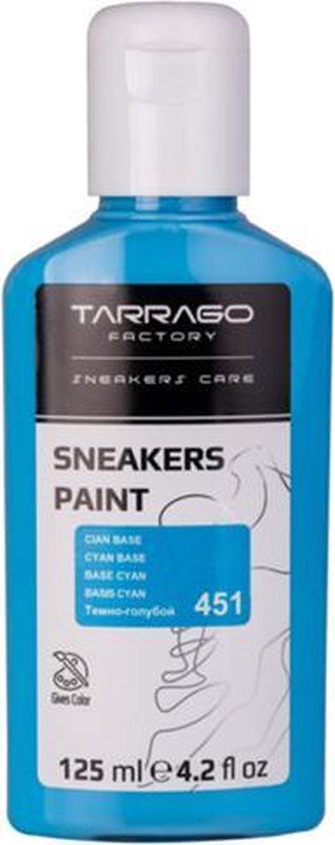 Tarrago Sneakers Verf 125ml - Cyaan Blauw #451 | Voor glad leer, synthetisch leer en canvas