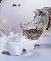 Dieren Water & Voer Set - Katten/Hon - Voerbak