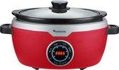 TurboTronic SC100 Digitale Slow Cooker met timer - 3.5L - 190W - Rood