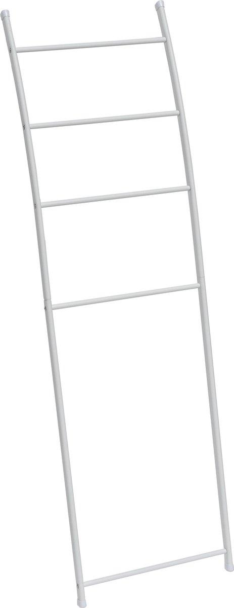 4goodz metalen handdoekhouder ladder 44x150 cm - Wit
