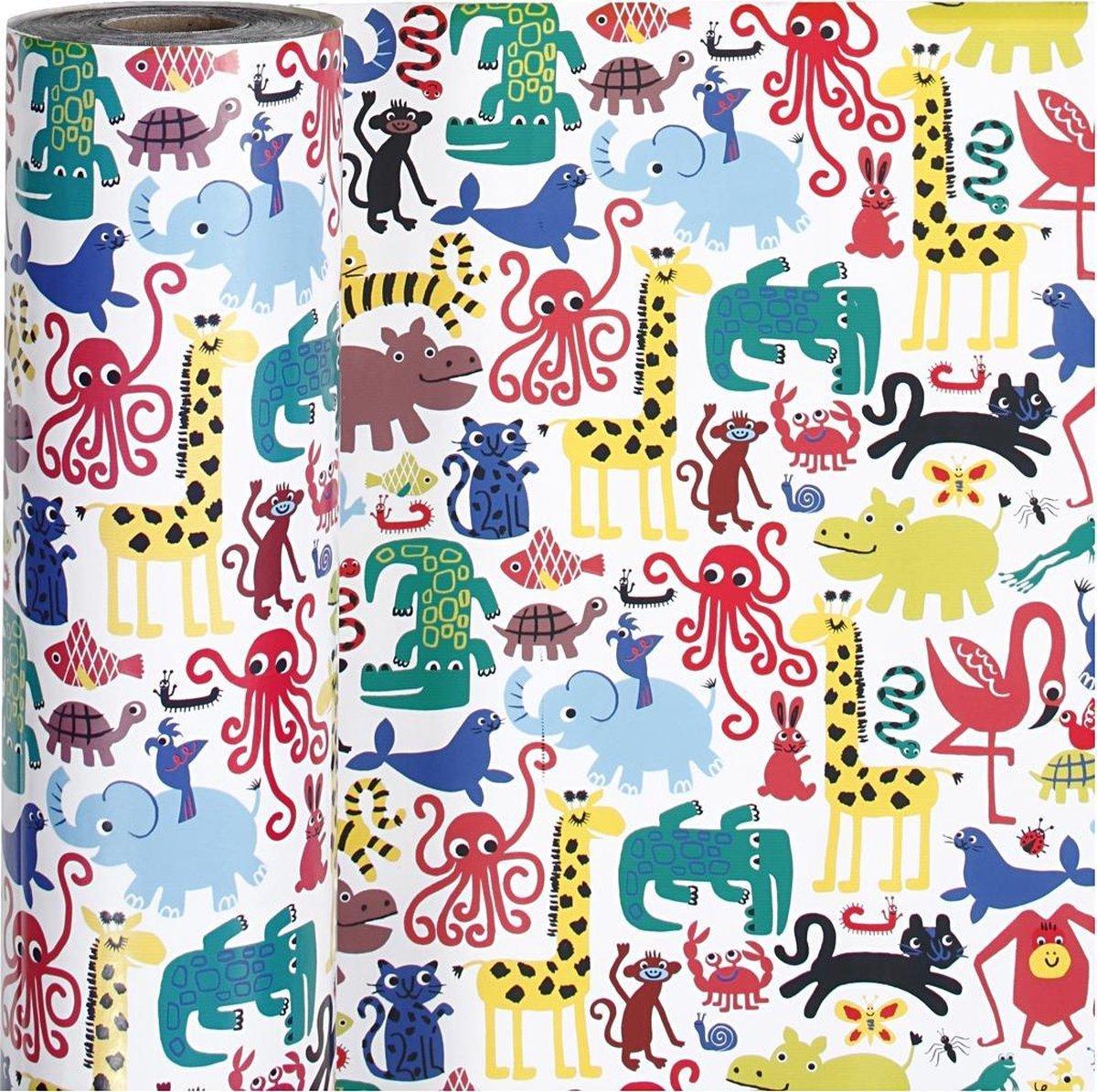 Inpakpapier. b: 57 cm.  80 gr. . zoo. 150m [HOB-19891] kopen