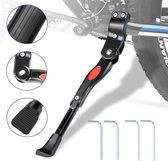 Fietsstandaard Enkel 26 cm Zijstandaard Aluminium Roestvrij Fiets Mountainbikes Makkelijk Te Installeren