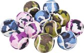 Camouflage tennisballen-12 stuks-hondenspeelgoed-Animal King