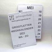 GROOT LETTER weekkalender 2021  A4 formaat.