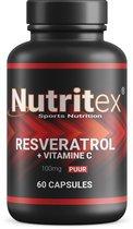 """Nutritex Nutrition Resveratrol 100mg + Vitamine C  100% Natuurlijk! (Bevat geen kunstmatige """"Trans-resveratrol"""""""