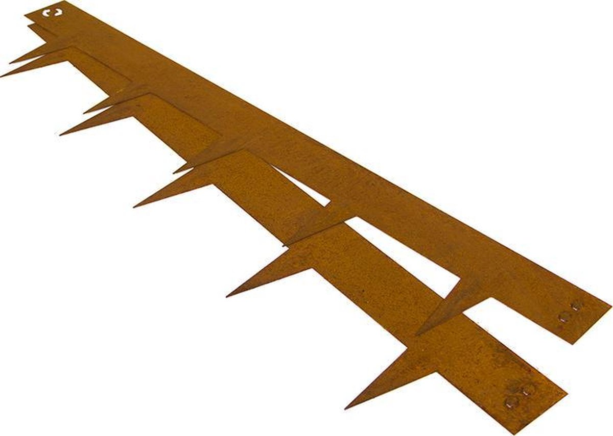 Multi-Edge kantopsluiting Cortenstaal 100x17,5 cm -10 stuks