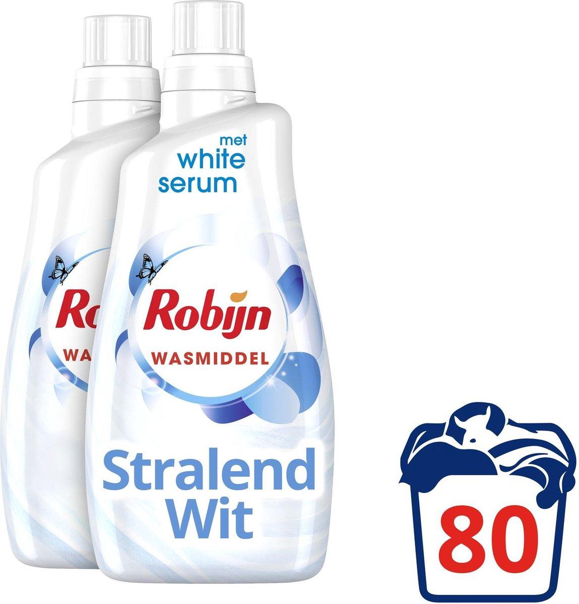 Robijn Stralend Wit Wasmiddel - 2 x 40 wasbeurten