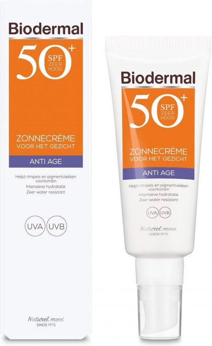 Biodermal Zonnebrand - Anti Age Zonnecr me voor het gezicht - SPF 50 - 40ml