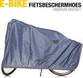 E-bike - Fietsbeschermhoes - Waterdicht PU-Coating - Premium Protect - 220 x 105cm - Opbergtas - Blauw - Fietshoes outdoor