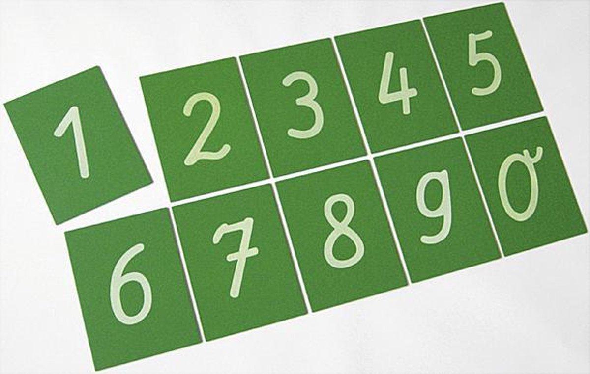 Schuurpapier Cijfers 0-9
