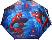 Marvel Spiderman kinderparaplu voor jongens/meisjes/kinderen 71 cm - Peter Parker - Kinderparaplu - Regenkleding/regenaccessoires