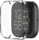 Shop4 - Fitbit Versa 2 Case - Siliconen Transparant