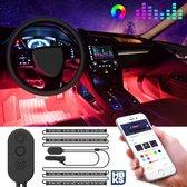 HBKS LED Verlichting Deluxe - LED Strips - Auto Verlichting - Auto Accessories - LED - Auto - Sfeerverlichting - Mobiele App - 12V