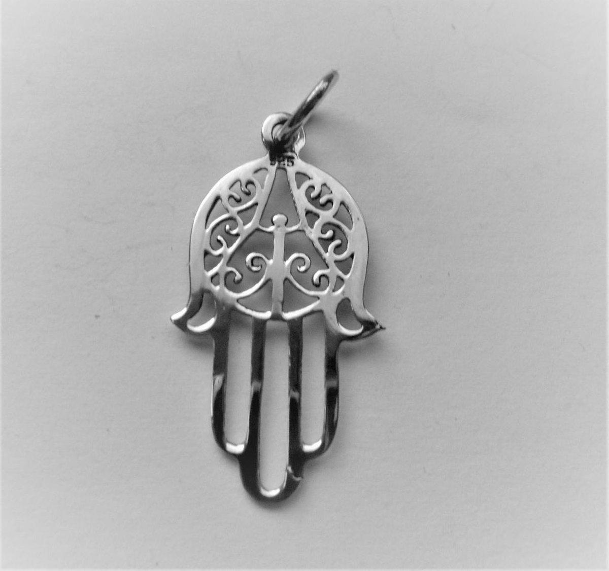 Zilveren hanger van Handje Fatima - Power of symbols