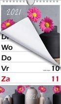 XL-kalender MGPcards 2021 - Omlegkalender - 1 week/1 pagina - Gerbera - 21 x 27,3 cm