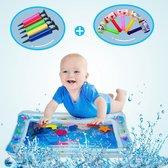 Waterspeelmat Incl. Opblaashamer en Pomp - Babygym - Opblaasbare Watermat - Tummy Time - Kraamcadeau