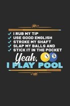 I play pool: 6x9 Billiards - dotgrid - dot grid paper - notebook - notes