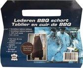 Lederen BBQ schort - Leer - Donkerbruin - Schort - BBQ - Barbecue
