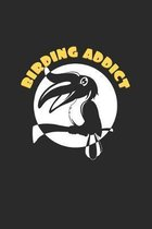 Birding addict: 6x9 Ornothologist - dotgrid - dot grid paper - notebook - notes