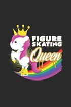 Figure skating queen: 6x9 Figure Skating - dotgrid - dot grid paper - notebook - notes