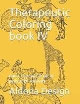 Therapeutic Coloring book IV: Adult Coloring Book of patterned Animals