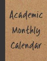 Academic Monthly Calendar