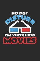 I'm watching movies: 6x9 Movies - dotgrid - dot grid paper - notebook - notes
