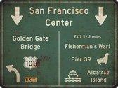 Signs-USA Verkeersbord - Amerika - San Francisco - grunge - Wandbord - 60 x 45 cm