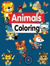 Animals Coloring: Children Activity Books for Kids Ages 2-4, 4-8, Boys, Girls, Fun Early Learning, Relaxation