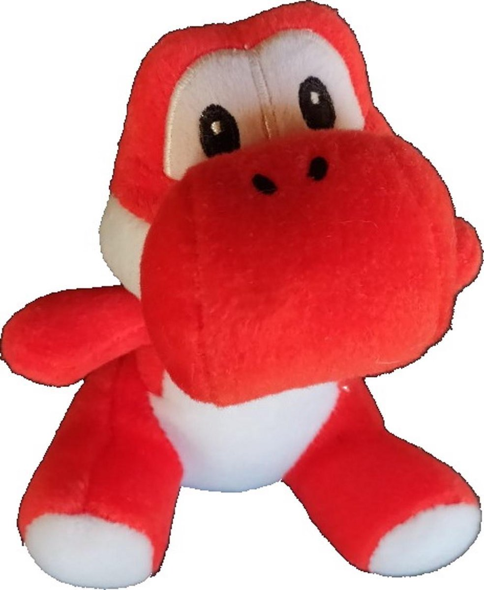 Yoshi knuffel rood zittend 15cm - Nintendo - Super Mario