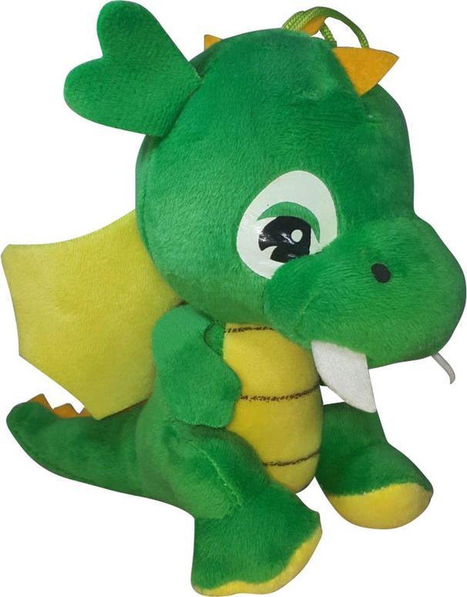 Pluche Draak Knuffel Groen 18cm