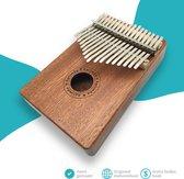 Kalimba - 17 tonen - Duimpiano - Mahonie Hout - complete set - Inclusief Liedjesboek