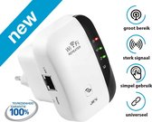 JC's - Wireless WiFi Versterker Stopcontact + Inclusief GRATIS Internetkabel - Wifi Signaalversterker - Ethernet - Wireless Range Extender- 300 mbps - 2.4 Ghz