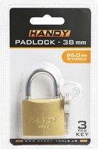 HANDY - Hangslot 38MM - Sluiting ⌀ 6MM - met 3 Sleutels - Kofferslot
