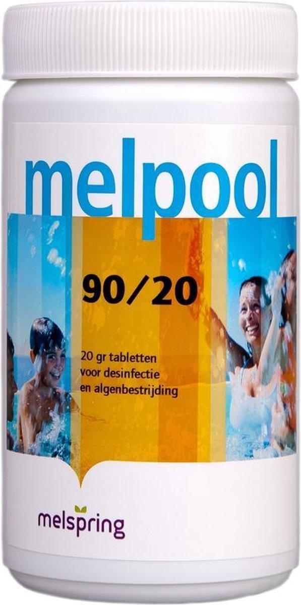 Melpool 90/20 tabletten 1KG - Chloor tabletten jacuzzi/ opzet zwembad (kleine tabletten)