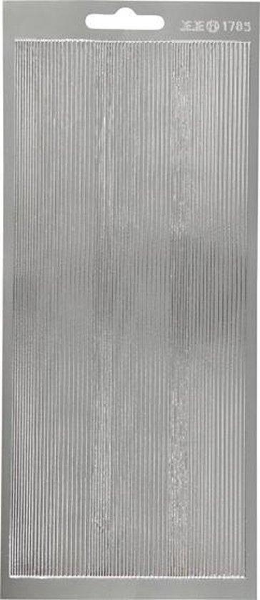 Stickers vel 10x23 cm zilver randen 1vel